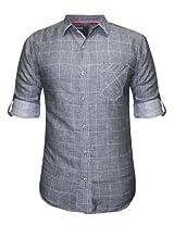 Spykar Dark Grey Casual Shirt