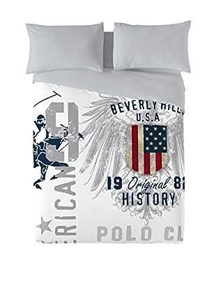 Beverly Hills Polo Club Bettdecke und Kissenbezug Trinity