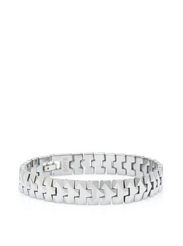 GÖTZ Switzerland Faceted Snake Link Bracelet, Silver