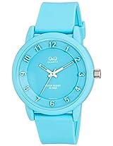 Q&Q Analog Sky Blue Dial Unisex Watches - VR52J008Y