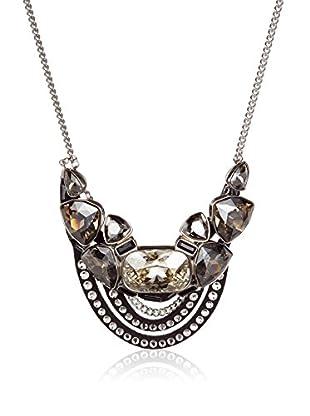 Swarovski Halskette  schwarz/silberfarben