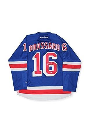 Steiner Sports Memorabilia Derick Brassard Signed New York Rangers Blue Authentic Jersey