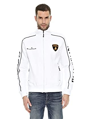 Lamborghini Sudadera Zip up (Blanco / Negro)