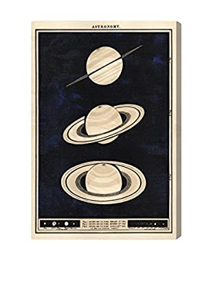 Oliver Gal Three Perspectives of Saturn in 1862 Giclée On Canvas