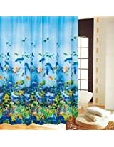 180*180cm Bathroom Undersea World Polyester Waterproof Shower Curtain