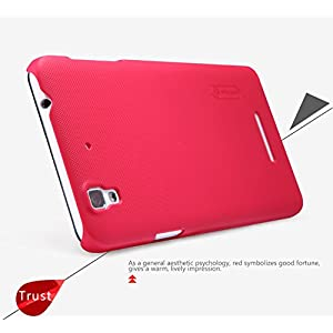 Armor Phone Accessories Frosted Shield Hard Back Case Cover, Free Screen Guard For Micromax YU Yureka (Red)