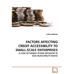 Factors Affecting Credit Accessibility to Small-Scale Enterprises