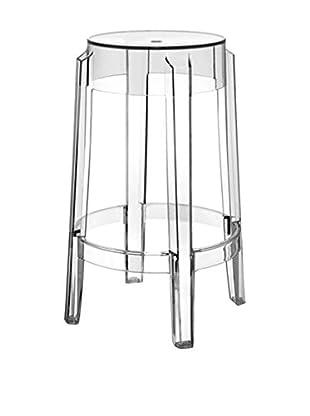 Kartell Set, 2-tlg Hocker kristall H75 - Ø  Sitz 46 -Ø  Sitzfläche   29 cm