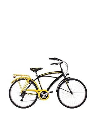 SCHIANO Fahrrad 26 Cruiser 122 schwarz/gelb