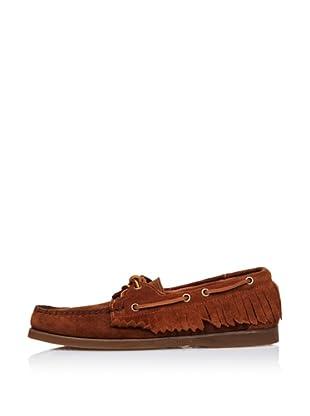 Sebago Zapato Náutico Con Flecos (Marrón)