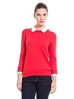 Cortefiel Jersey Con Cuello (Rojo)