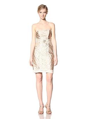 Sue Wong Women's Embellished Strapless Dress (Beige)