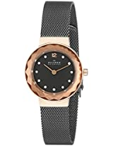 Skagen Analog Black Dial Women's Watch 456SRM