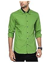 See Designs Men Buttoned Shirt (SDMDWWS14SH607_XXL, GREEN, XXL)