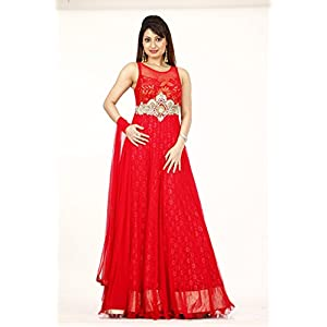 Bawree Gown Red Net party Wear 31107