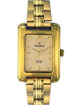 Maxima Formal Gold Analog Gold Dial Women's Watch - 02411CPLY