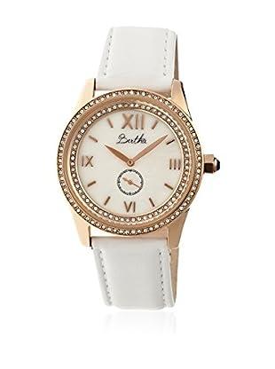 Bertha Uhr mit Japanischem Quarzuhrwerk Emma weiß 42 mm