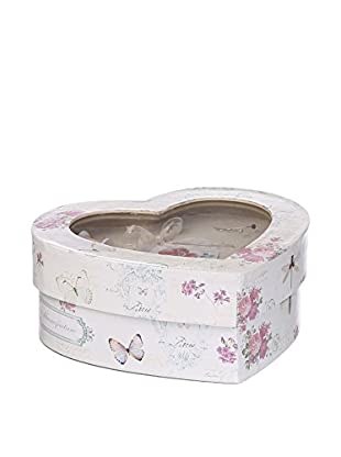 Romantic Style Caja de Costura Butterfly Blanco