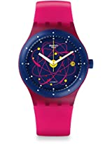 Swatch Women's SUTR401 Sistem Pink Silicone Automatic Watch