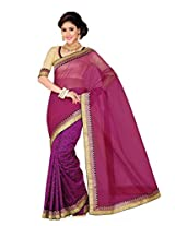 De Marca Black Silk G-324 Saree