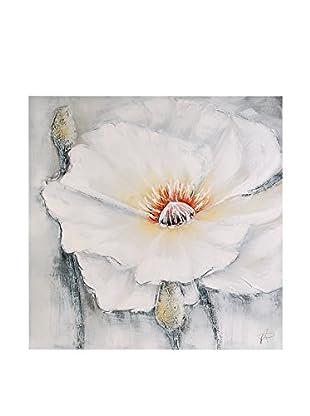 Arte dal Mondo Lienzo Paolo Rossini Fiore Bianco E Rosso