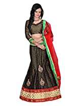 Surupta Black Coloured Self Design Women's Lehenga Choli