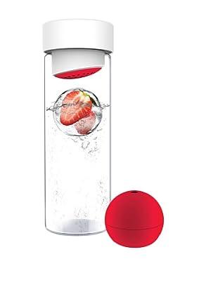 AdNArt Glass Water Bottle (Red)
