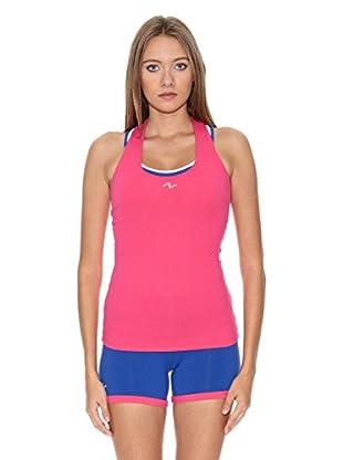 Naffta Camiseta Active / Gym (Fucsia / Blanco)