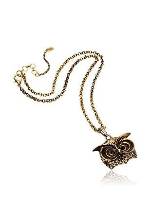 Amrita Singh Conjunto de cadena y colgante Owl Eye
