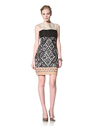 GIAMBATTISTA VALLI Women's Strapless Printed Dress (Black/ White)