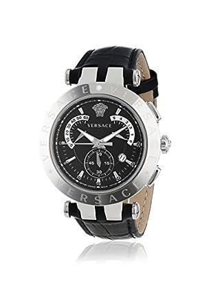 Versace Men's 23C99D008 S009 V-Race Black Leather Watch