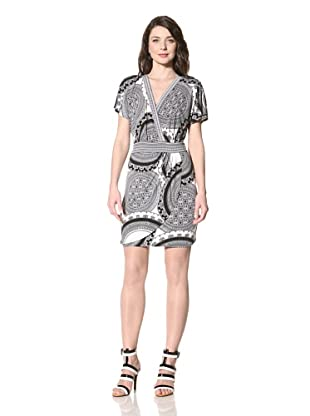 Hale Bob Women's Faux Wrap Dress (Black/White)