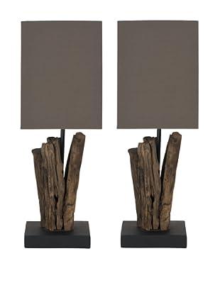 Safavieh Set of 2 Arcadia Branch Mini Table Lamps, Natural