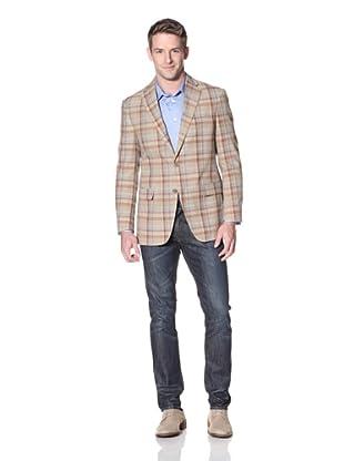 Hart Schaffner Marx Men's Notch Lapel Sportcoat (Beige Multicolor)