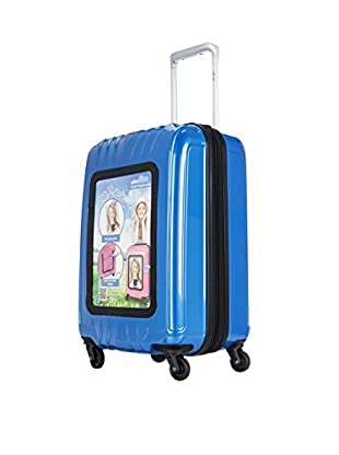Selfie Club 20 Inch Personalized Carry On with 360 Degree 4 Wheel System, Navy