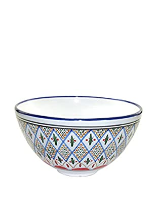 Le Souk Ceramique Tabarka Deep Salad Bowl, Multi