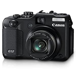 Canon PowerShot G12 10MP Point-and-Shoot Digital Camera (Black) with Memory Card, Camera Case