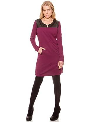 SideCar Kleid Colorblocking (Beere)