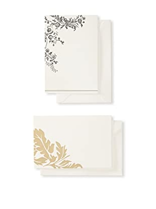 Vera Wang 50-Piece Empress Jewel & Floral Vine Notecard Set