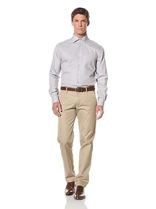 De Corato Men's Dress Shirt (Brown Check)