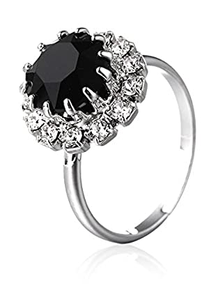 SWAROVSKI ELEMENTS Anillo Saton Negro