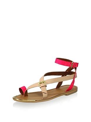 Boutique 9 Women's Pryalis Flat Sandal (Natural Multi)