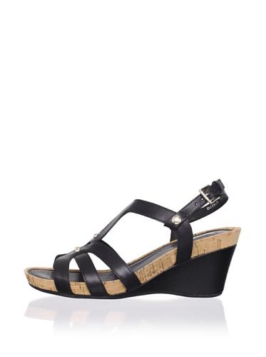 Geox Women's Roxy30 Wedge Sandal (Black)