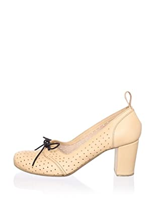 Swedish Hasbeens Women's Margot Laced Pump (Nature)