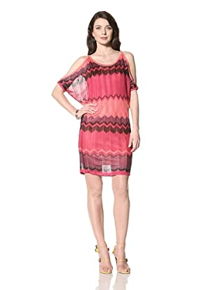 Hale Bob Women's Cold Shoulder Dress (Coral)