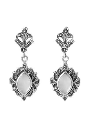 My Silver Pendientes Marquesitas Nácar