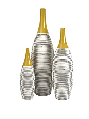 Andean Set of 3 Multi-Glaze Vases, Multi