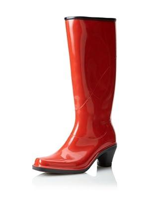 däv Women's Fashion Rain Boot (Picnic Red)