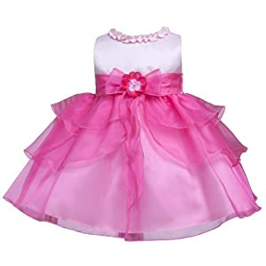 KID Collection Baby-Girls Ruffle Tiered Dress Pink Fuchsia