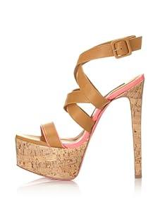 Ruthie Davis Women's Highline Platform Sandal (Honey/Bubblegum)